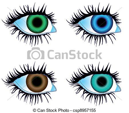 Glimpse clipart Csp8957155 vector Eyes  Vector