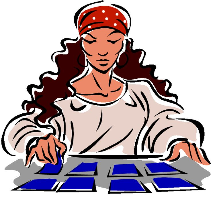 Tarot clipart psychic Clipart images Gypsy reader Pinterest
