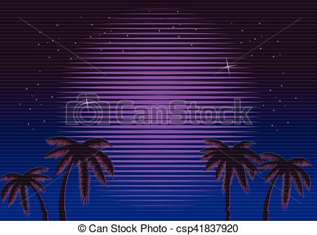 Glitch clipart buttefly Sun Palms gradient Illustration Retro