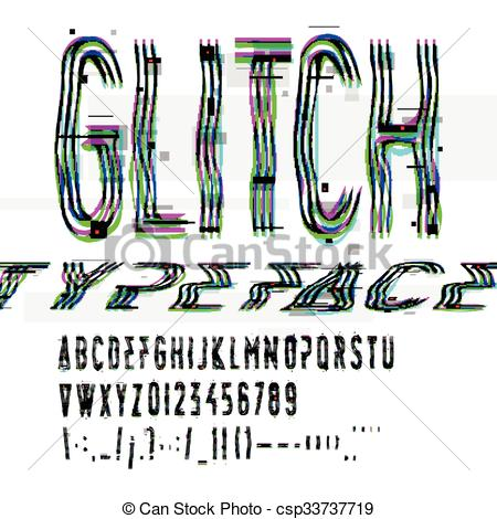 Glitch clipart pink lady Digital illustration glitch font data