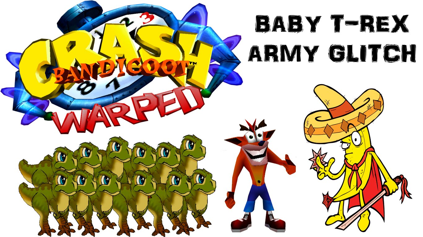 Glitch clipart baby Rex Crash Glitch YouTube T