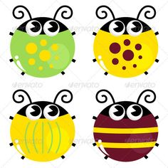 Glitch clipart bettle With Frame on Ladybugs Set