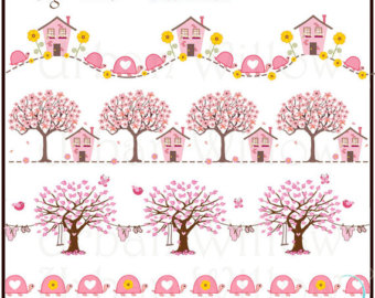 Glitch clipart border Clipart BORDERS Baby Borders Pink
