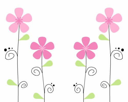 Glitch clipart border Background on Images theme Flowers