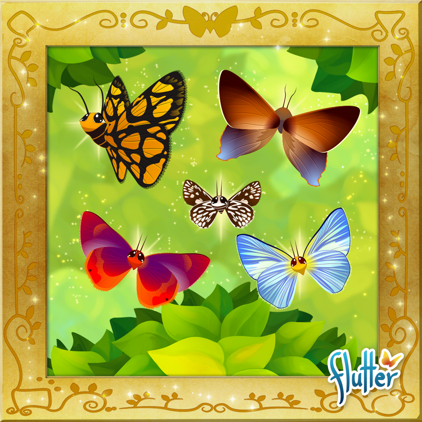 Glitch clipart butterfly flower 5th Butterfly normal Flower by