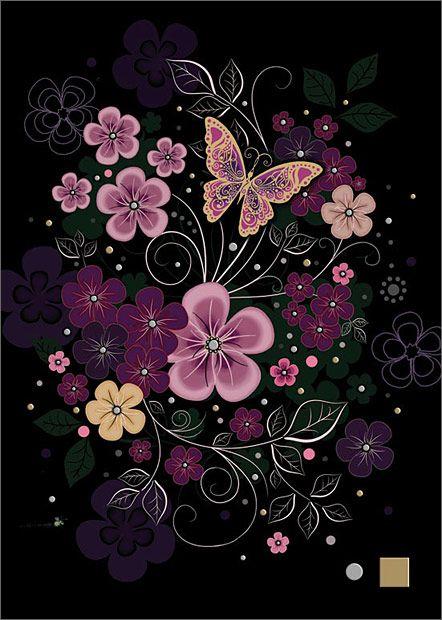 Glitch clipart butterfly flower #4