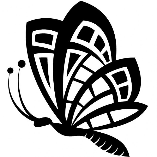 Glitch clipart butterfly flower Clip vecteur noir art Papillon