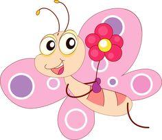 Glitch clipart butterfly pink Cute Art Cartoon Free Cartoon