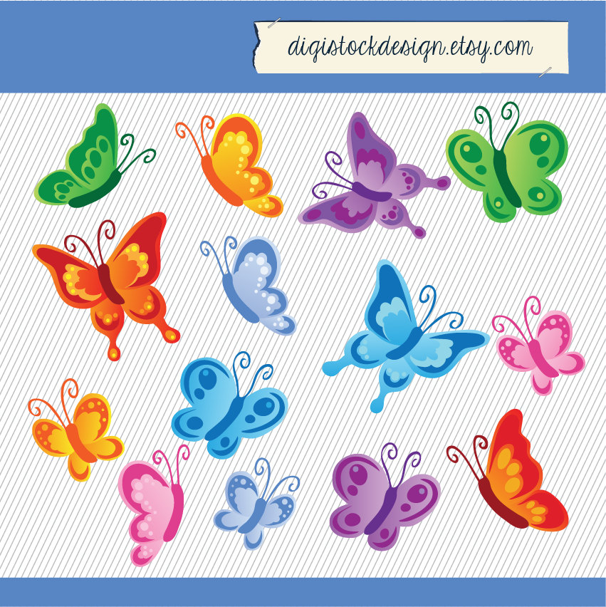 Glitch clipart colorful butterfly #12