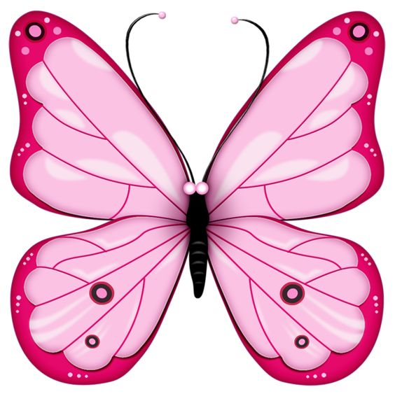 Glitch clipart colorful butterfly #1