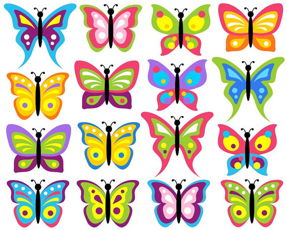Bugs clipart butterfly Clipart Clowns Clip Colorful butterfly