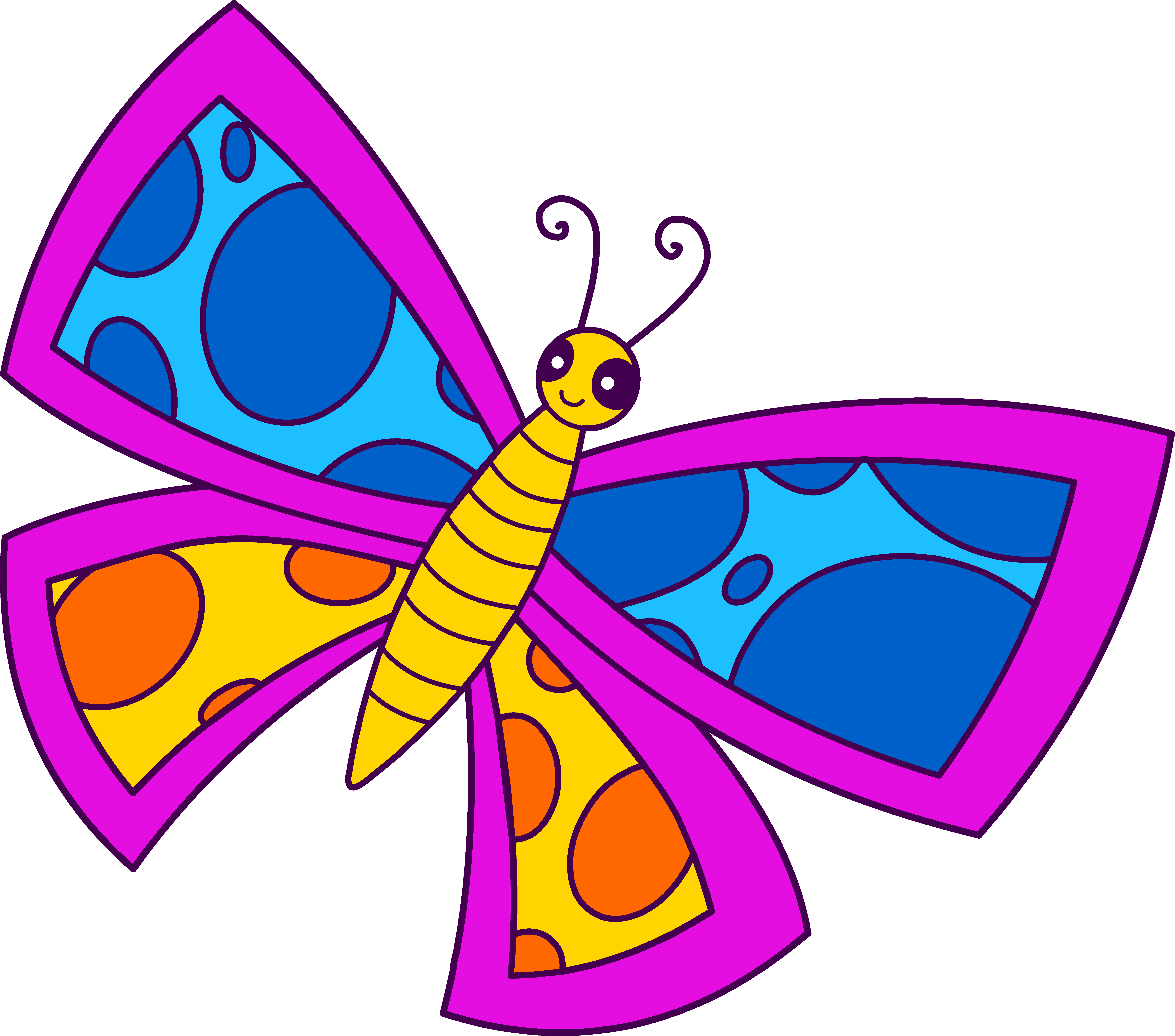 Glitch clipart colorful butterfly #8