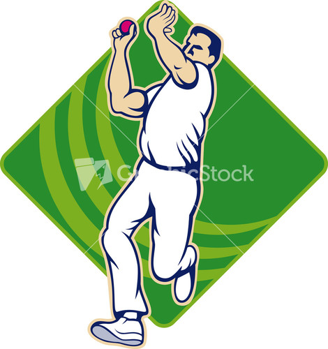 Glitch clipart cricket Bowling Fast Bowler Bowling Stock