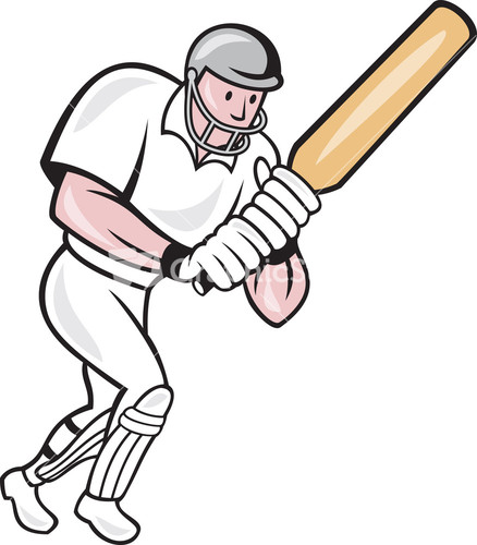 Glitch clipart cricket Batsman Vector Player Cricket Cartoon