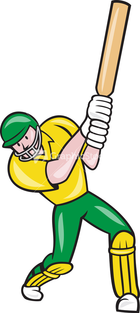 Glitch clipart cricket Batsman Isolated Player Fast Front