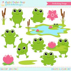 Glitch clipart cute spring Frogs digital Images Bing Clip