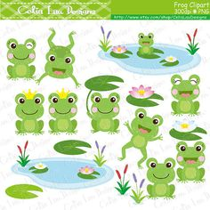 Glitch clipart cute spring Best lilypads ideas FROG Frogs