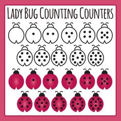 Cube clipart math counters Set Dots art A in