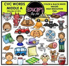 Glitch clipart cvc word Bundle Art CVC Snap Clip