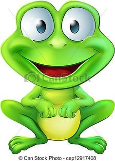Glitch clipart frog Of of Cute green Character