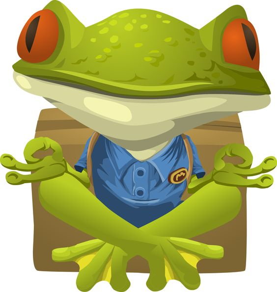 Glitch clipart frog Clipart Yoga Frog about Yoga