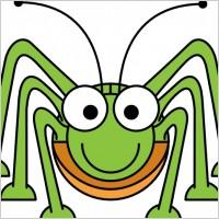 Bugs clipart green bug Grasshopper Art Clipart Images cartoon