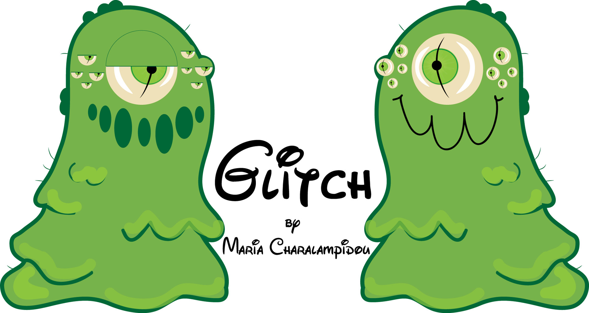 Glitch clipart gress Charalampidou  ArtStation Glitch Maria