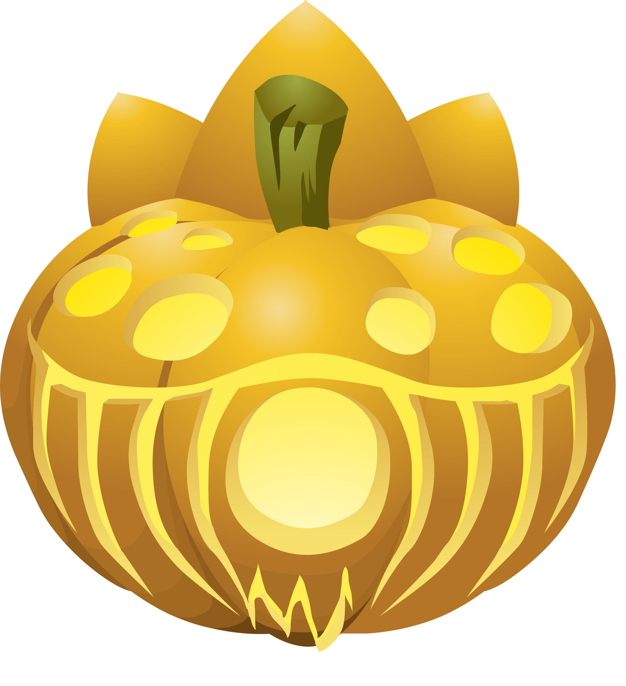 Glitch clipart halloween 5 (PNG) Carved Lit Pumpkins