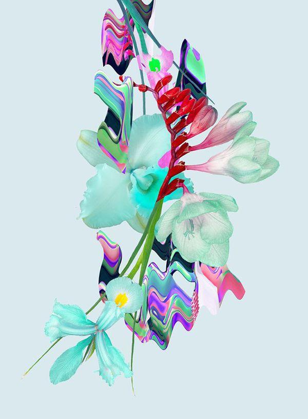 Glitch clipart little flower Metallic Metallic & and &