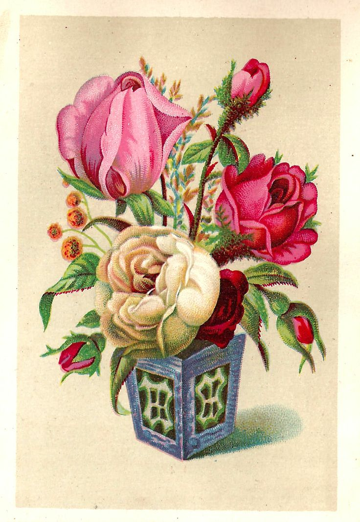 Glitch clipart little flower Pinterest Art Clip Antique on