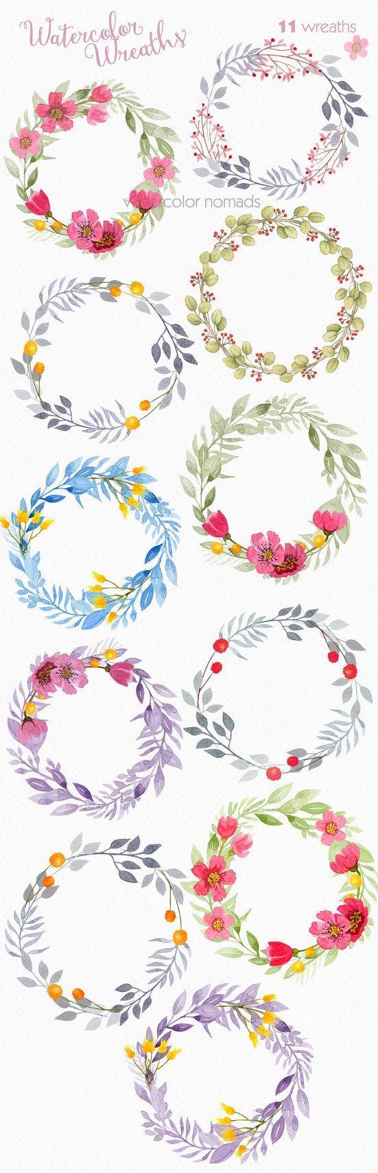 Glitch clipart little flower Graphic Pinterest download instant watercolor