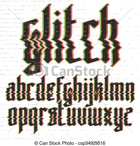 Glitch clipart logo Gothic Glitch csp34929516 distortion distortion