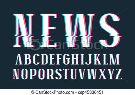 Glitch clipart logo Decorative Vector distortion glitch of