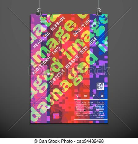 Glitch clipart logo Glitch of  backdrop colorful