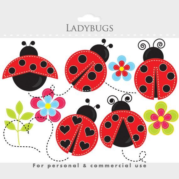 Glitch clipart love bug Clip whimsical bugs buggy Lady