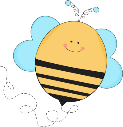 Glitch clipart mycutegraphics Art Buzzing Blue Bee Clip