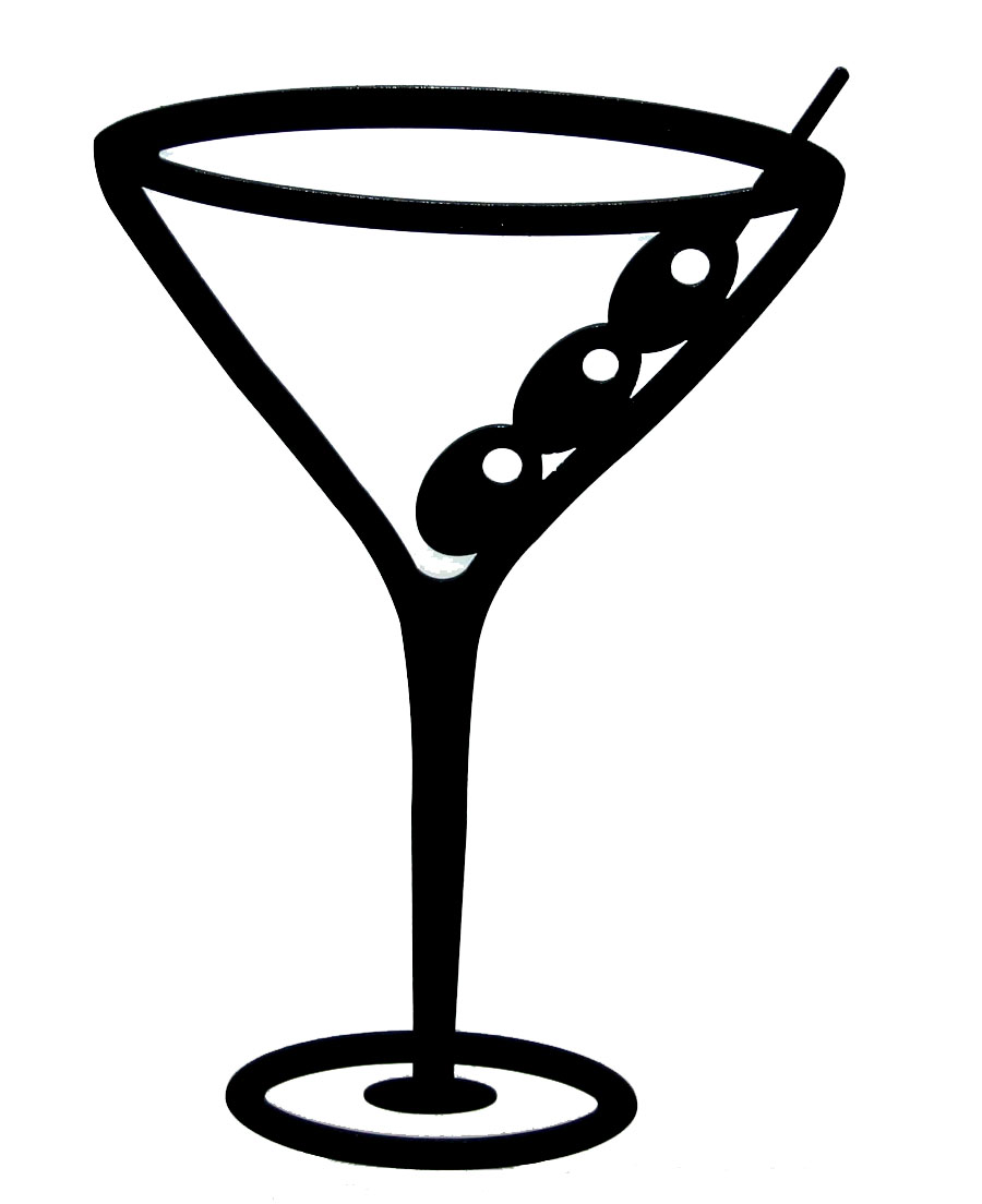 Glitch clipart outline Martini Martini martini clipart remix