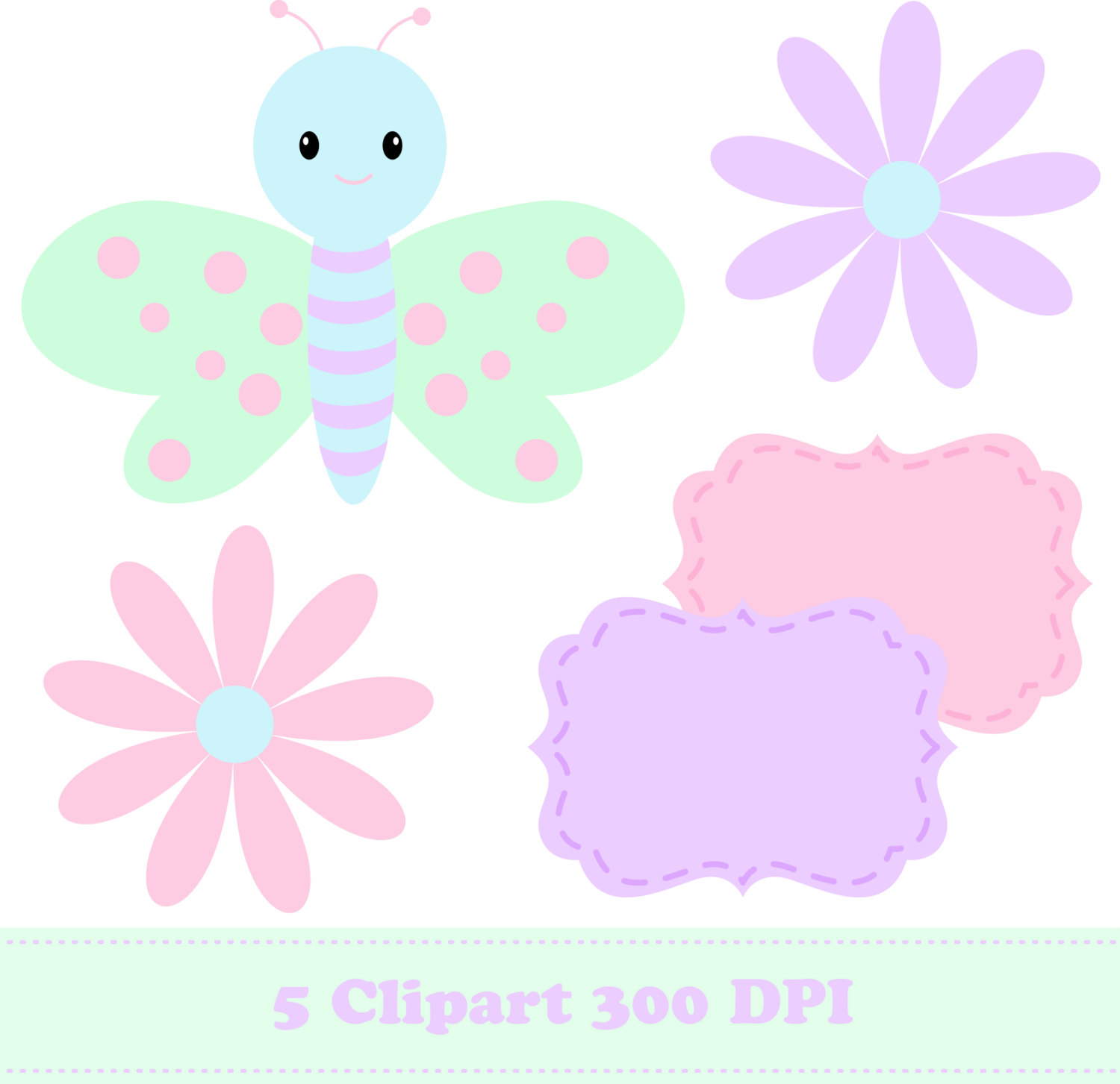 Glitch clipart pastel butterfly #10