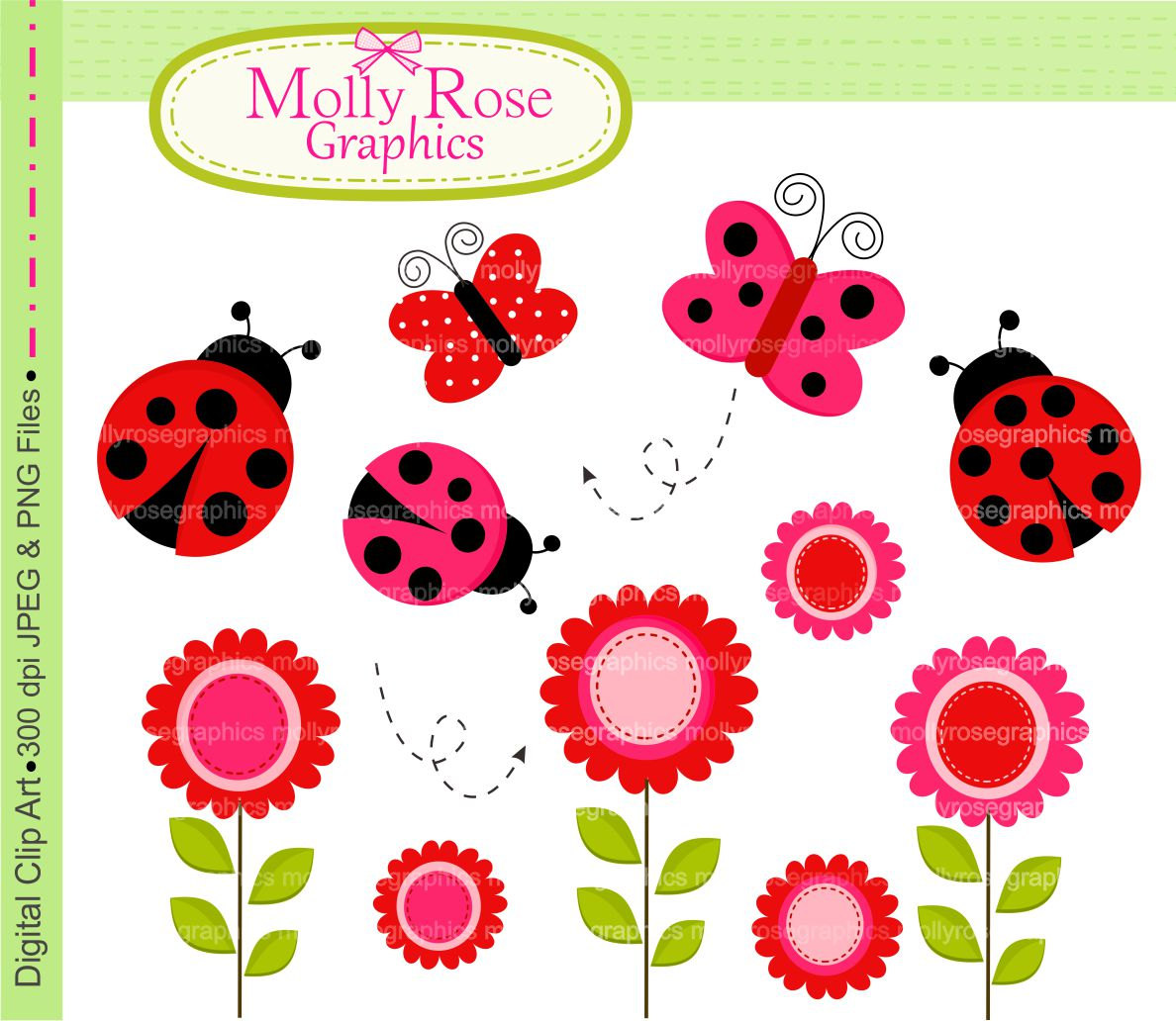 Bugs clipart flowery Card Personal SALE Clip Making