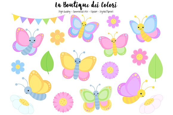 Glitch clipart pastel butterfly #4