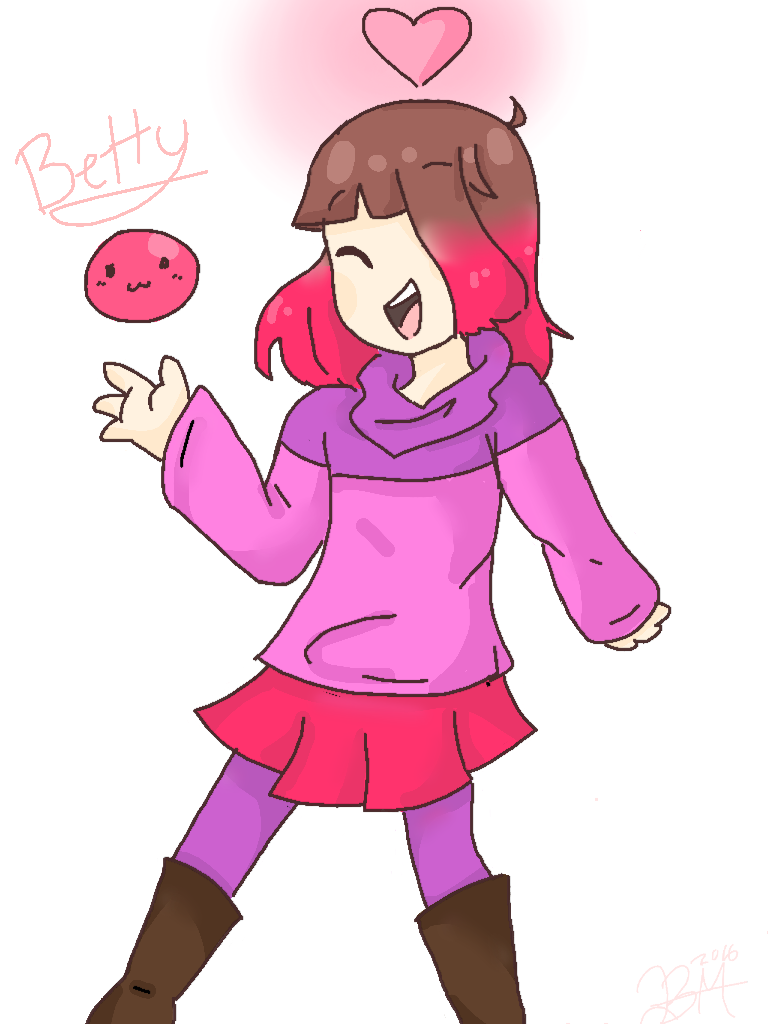 Glitch clipart pink lady [Glitchtale] by by Betty DeviantArt
