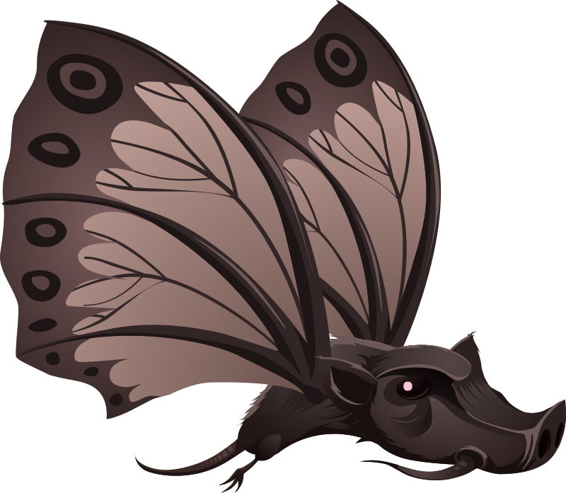 Glitch clipart pretty butterfly (PNG) MEDIUM Npc Inhabitants Batterfly