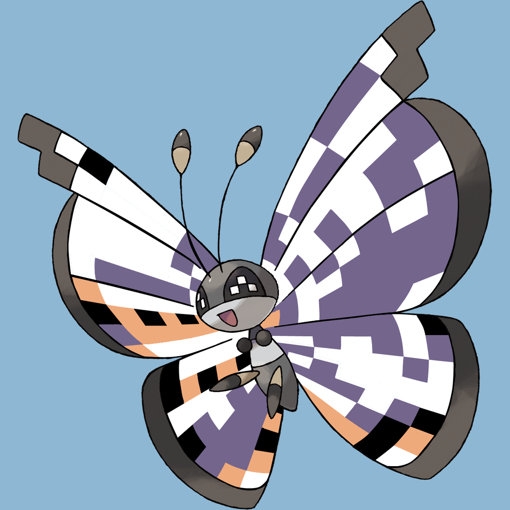 Glitch clipart pretty butterfly By Missingno Pattern Eskay64 Pattern