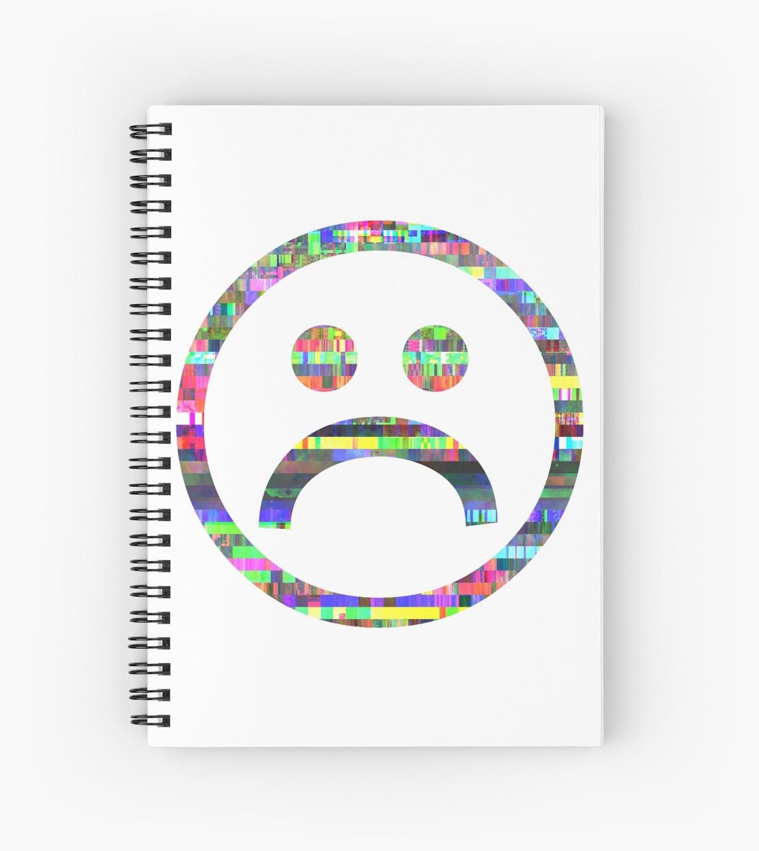 Glitch clipart sad Boy Redbubble jameskahorn Boy Notebooks