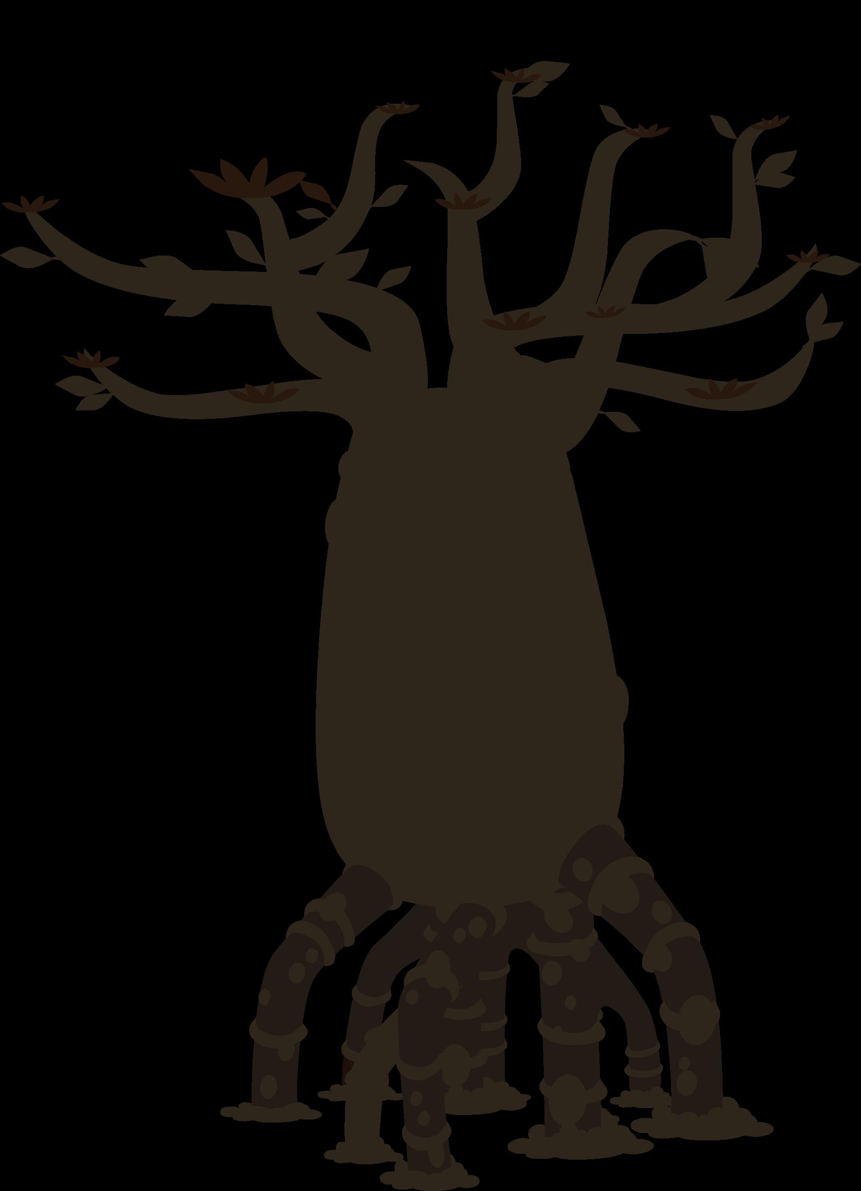 Glitch clipart silhouette Bottletree Background Clipart Firebog Bottletree