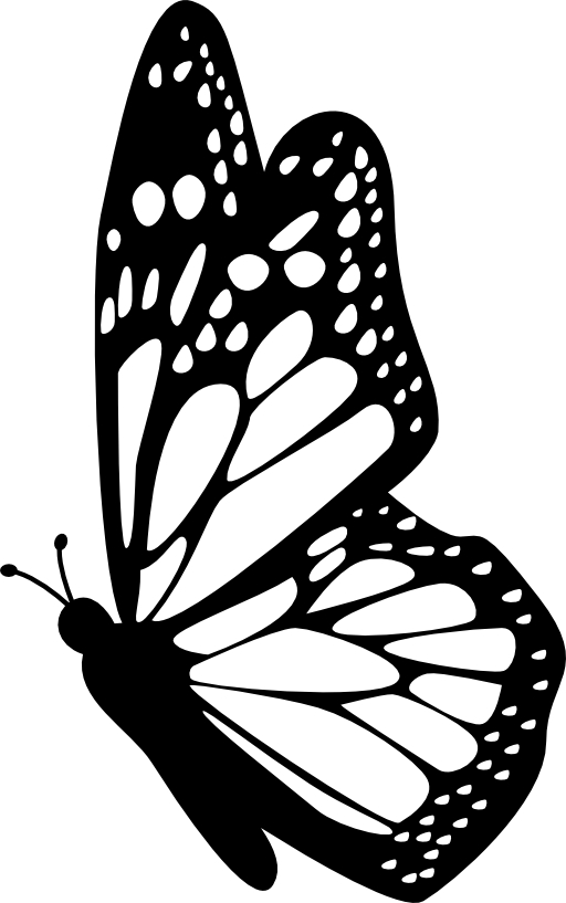 Glitch clipart simple butterfly #13