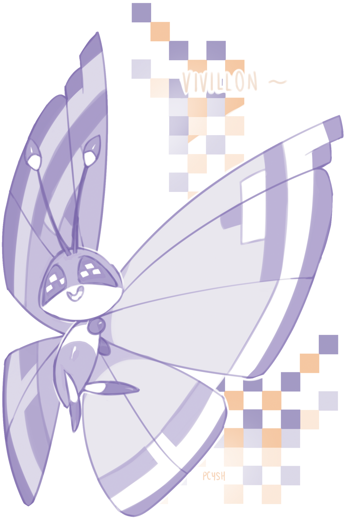 Glitch clipart simple butterfly #6