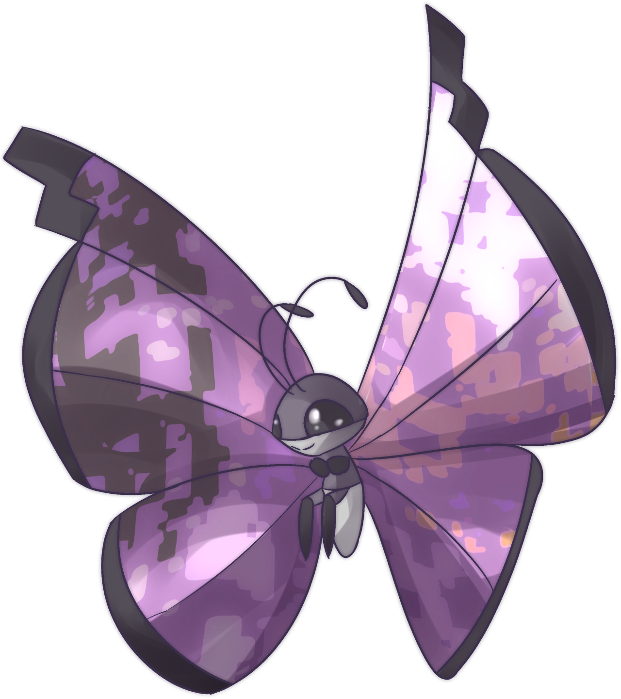 Glitch clipart simple butterfly #1