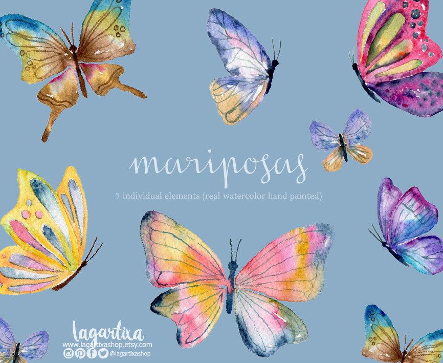 Glitch clipart spring butterfly Birthdays acuarela https://www  com/mx/listing/536168267/mariposas