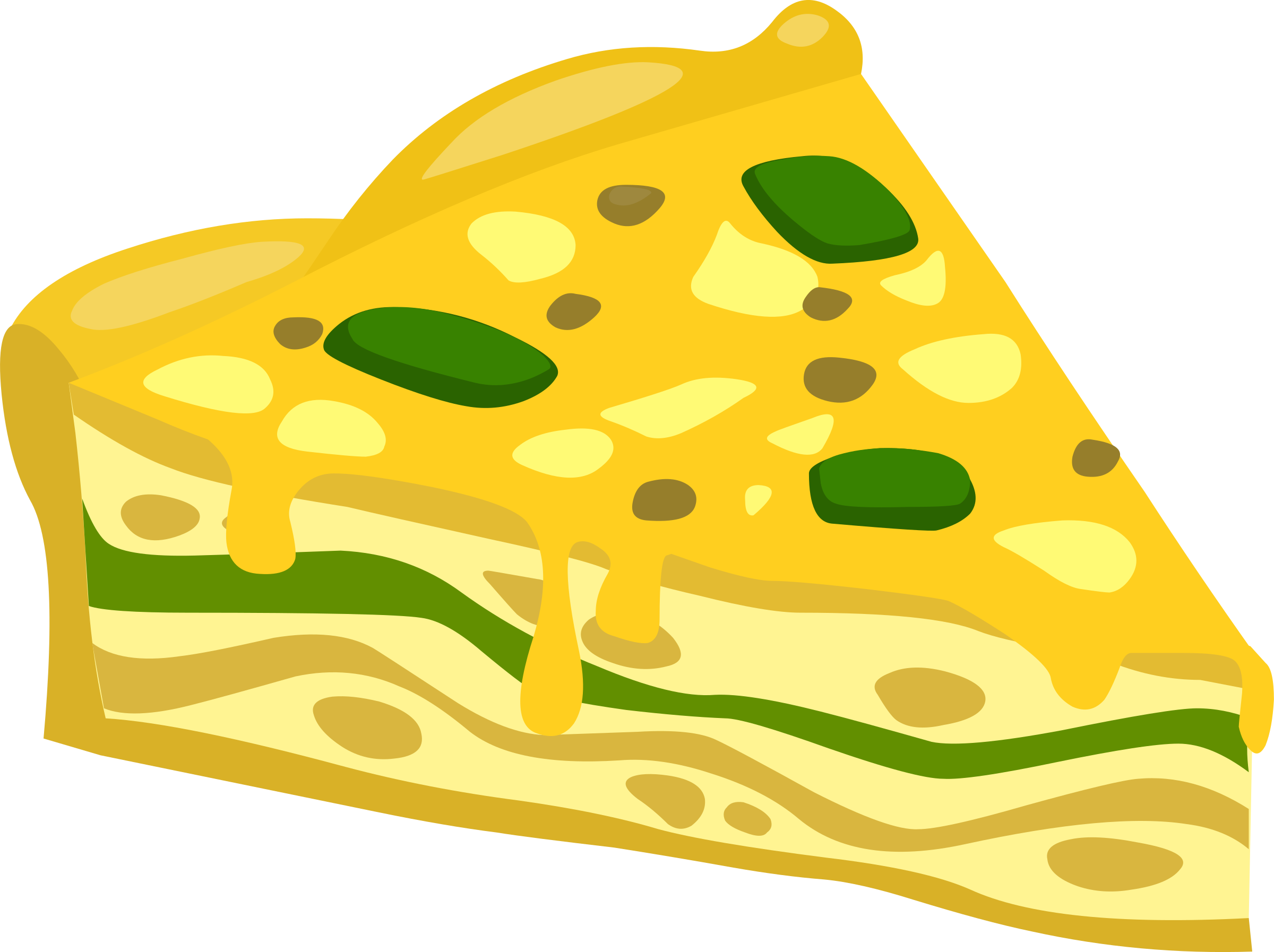 Glitch clipart yellow (PNG) BIG IMAGE Frittata Food